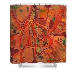 Open Paths One Shower Curtain by Lynne Taetzsch