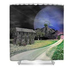 Open Portal Shower Curtain by Ally  White