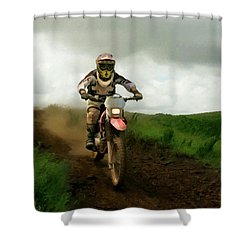 Shower Curtain featuring the painting Open Range P D P by David Dehner