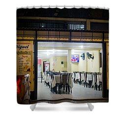 Open Restaurant In Lima, Peru Shower Curtain