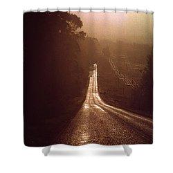 Open Road Shower Curtain by David Halperin