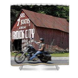 Open Road Shower Curtain by David Lee Thompson