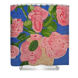 Open Roses I Shower Curtain by Olivia  M Dickerson