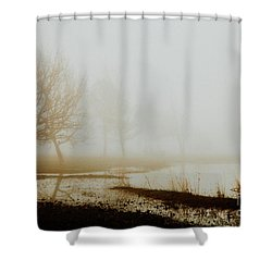 Shower Curtain featuring the photograph Open Space by Iris Greenwell
