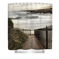 Shower Curtain featuring the photograph Open To The Sea by Robin-Lee Vieira