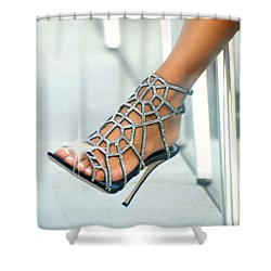 Open Toe Shower Curtain by Diana Angstadt