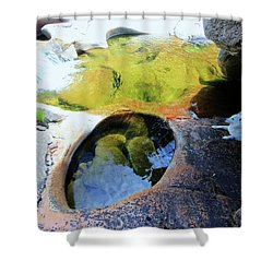 Open Your Mind....the Heart Will Follow Shower Curtain by Sean Sarsfield