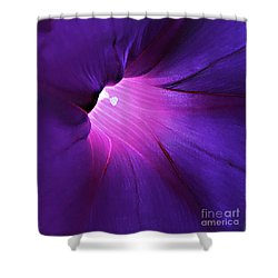 Opening One's Heart Shower Curtain by Sherry Hallemeier
