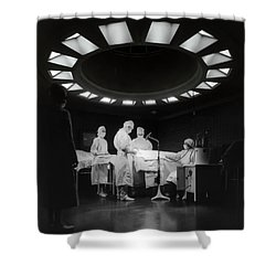 Shower Curtain featuring the photograph Operating Room Theater 1933 by Daniel Hagerman