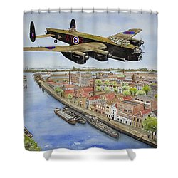 Operation Manna II Shower Curtain by Gale Cochran-Smith