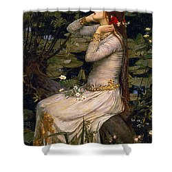 Ophelia Shower Curtain by John William Waterhouse