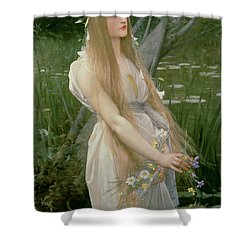 Ophelia Shower Curtain by Jules Joseph Lefebvre