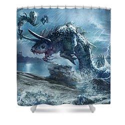 Ophiotaur Attack Shower Curtain