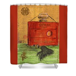 Shower Curtain featuring the painting Opium by P J Lewis