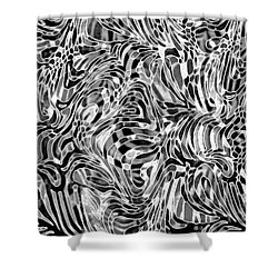 Opposites Attract Shower Curtain by Nareeta Martin