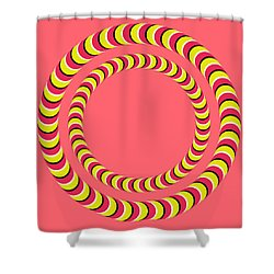 Optical Illusion Circle In Circle Shower Curtain