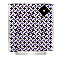 Optical Illusion Purple Black Flag 4. Shower Curtain
