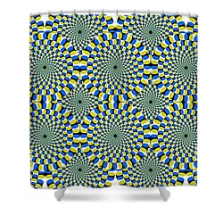 Optical Illusion Spinning Circles Shower Curtain