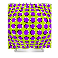 Optical Illusion The Ball Shower Curtain