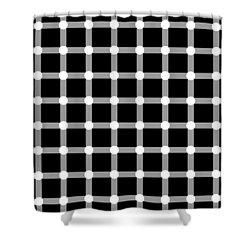 Optical Illusion The Grid Shower Curtain