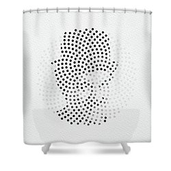 Shower Curtain featuring the digital art Optical Illusions - Iconical People 2 by Klara Acel