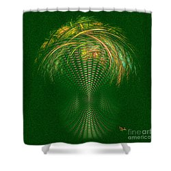 Shower Curtain featuring the digital art Optimistic Art - The Abundance Headquarters By Rgiada by Giada Rossi