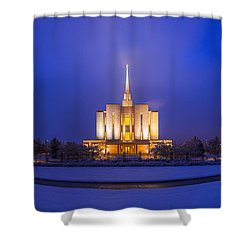 Shower Curtain featuring the photograph Oquirrh Mountain Panorama by Dustin  LeFevre