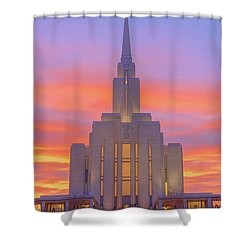 Shower Curtain featuring the photograph Oquirrh Mountain Temple IIi by Chad Dutson