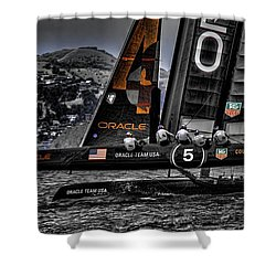 Oracle Winner 34th America's Cup Shower Curtain