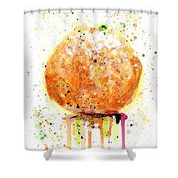 Orange 2 Shower Curtain
