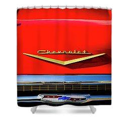 Orange '57 Chevy Shower Curtain by Douglas Pittman