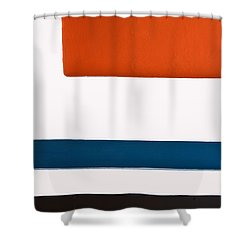 Orange Above Shower Curtain