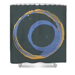 Orange And Blue 3 Shower Curtain