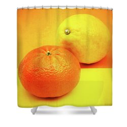 Orange And Lemon Shower Curtain