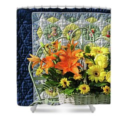 Shower Curtain featuring the photograph Orange And Yellow Delights by Nancy Lee Moran