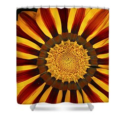 Orange And Yellow Over And Over Shower Curtain