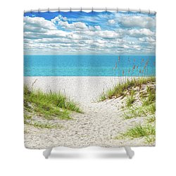 Orange Beach Al Seascape 1086a Shower Curtain