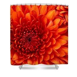 Orange Bloom Shower Curtain