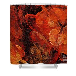 Shower Curtain featuring the digital art Orange Blossom Abstract by Andee Design