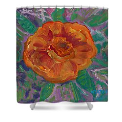 Shower Curtain featuring the painting Orange Blossom by John Keaton