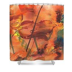 Orange Blossom Special Shower Curtain