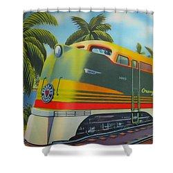 Orange Blossom Special Shower Curtain