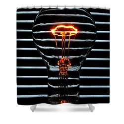 Orange Bulb Shower Curtain by Rob Hawkins