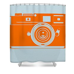 Orange Camera Shower Curtain