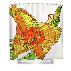 Orange Canna Lily Shower Curtain