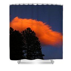 Orange Cloud Shower Curtain