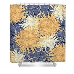 Orange Cobwebs Pattern Shower Curtain