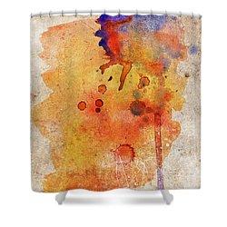 Orange Color Splash Shower Curtain