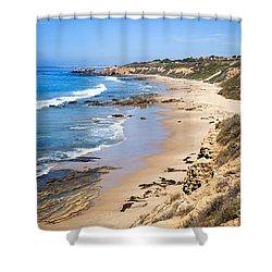 Orange County California Shower Curtain by Paul Velgos