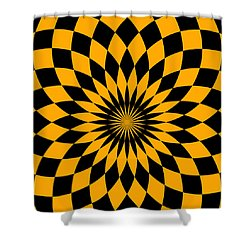 Shower Curtain featuring the digital art Orange Energy by Lucia Sirna